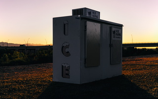 Ice Storage Freezer Sunset