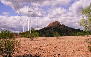 Tempe cloudy desert power lines s