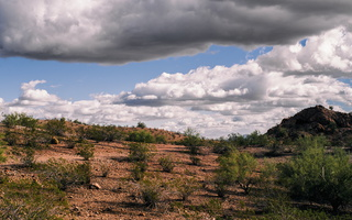 Tempe desert under clouds 2