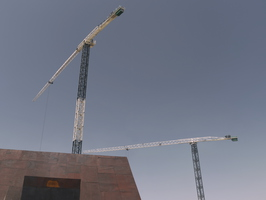 Tempe The Chuckbox Roof Tower Cranes n2