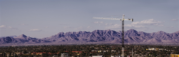 Arizona Tempe North Mountains Panorama Crane 01 3k