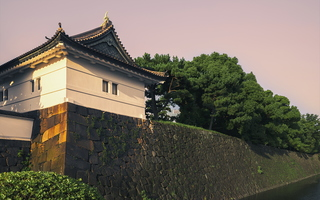 Tokyo Imperial Palace Moat Sunset Light 皇居前広場 02