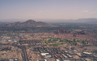 Camelback mountain from the plane 2k