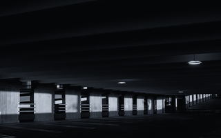Parking Deck Partly Illuminated