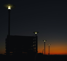 Tempe Rio Salado Town Lake Construction Site Street Lights Sunset 01