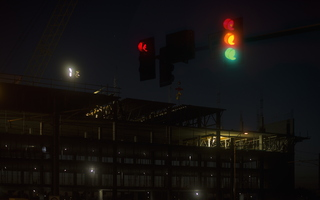 Tempe Early Morning Construction Traffic Light 2k
