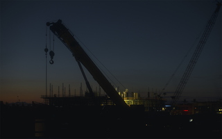 Tempe Dawn Construction Cranes