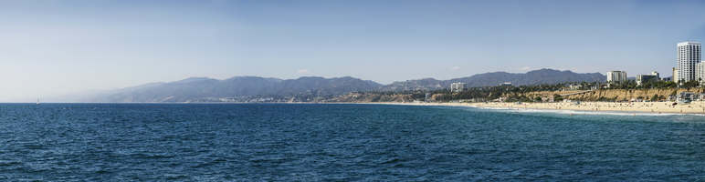 Santa Monica Beach Pacific Panorama from Pier 6k