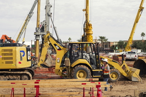 Tempe December Construction Blount Cranes CAT Drill Mardian Concrete Worker