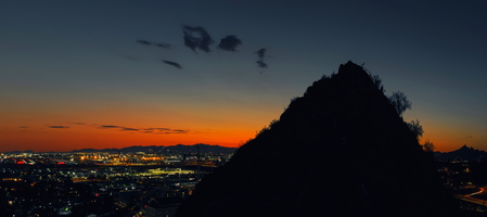 A-mountain night Downtown Phoenix View Panorama u 4k sRGB 1
