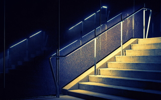 Tempe Winter Night Stairs Light Marble