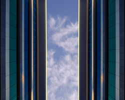 A new city Architecture Glass Metal Cloudy Sky
