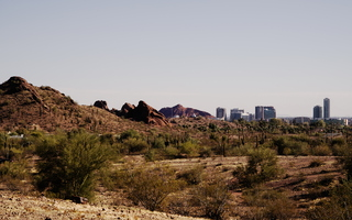 Desert Tempe View from Papago Park in February
